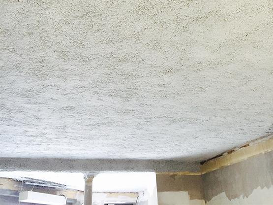 flocage anti feu de plafond, plancher