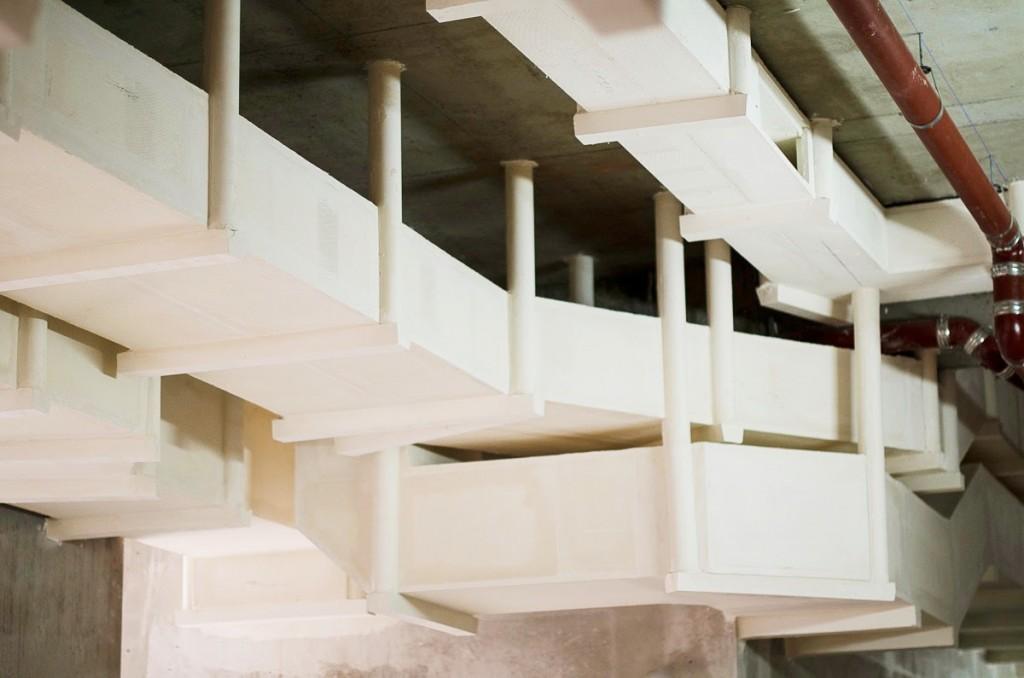 gaines coupe feu traitement par flocage coupe feu thermique et acoustique france isolation. Black Bedroom Furniture Sets. Home Design Ideas