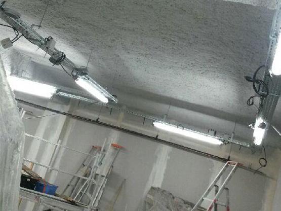 flocage coupe feu sous plafond CF1H, CF1/2H et CF2H